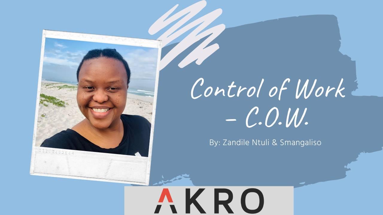 Control of Work – C.O.W. YouTube Thumbnail